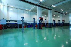 Epoxy Coating on automotive shop floor
