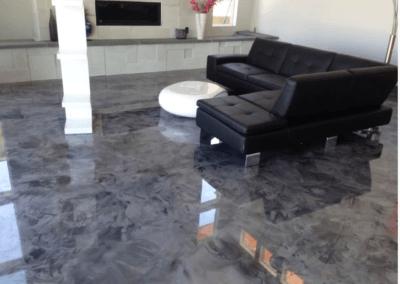 Epoxy Flooring In Living Room