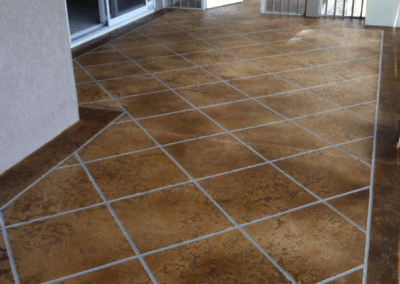 Outdoor Stained and Stamped Concrete