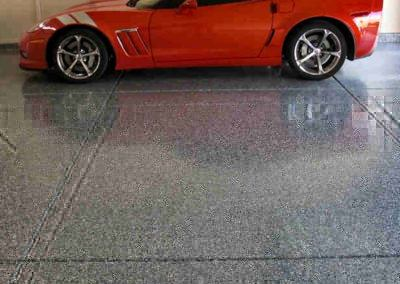 Car On Epoxy Floor
